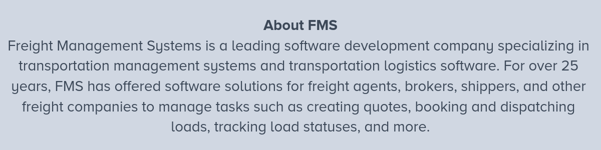 About FMS 8