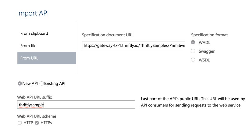 Import Thriftly API