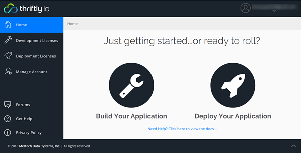 getting started_Thriftly dashboard